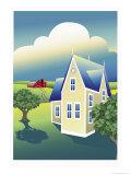 Prairie Farm Giclee Print by Linda Braucht