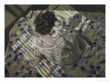 Woman Seated on a Quilt, c.1990 Giclée-Druck von Helen J. Vaughn