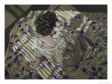 Woman Seated on a Quilt, c.1990 Giclée-Druck von Helen J. Vaughn