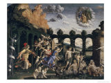 Minerva Chases the Vices from the Garden of Virtue, c.1052 Giclee Print by Andrea Mantegna
