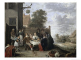 Family Meal Giclee Print by Jan Havicksz. Steen