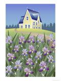 Iris Estate Giclee Print by Linda Braucht