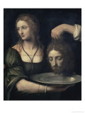 Salome Receiving the Head of John the Baptist, 16th century Giclee Print by Bernardino Luini
