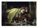 Death of Francesca de Rimini and Paolo Malatesta Premium Giclee Print by Alexandre Cabanel
