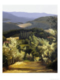 Path Near the Villa Giclee Print by Helen J. Vaughn