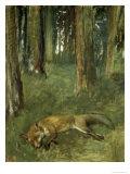 Renard Mort Sous Bois Giclee Print by Edgar Degas