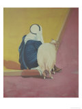 Bedouin with Goat, c.1978 Giclee Print by Erik Slutsky