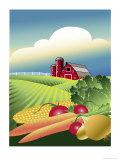 Plain Vegetable Farm Giclee Print by Linda Braucht
