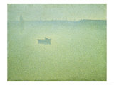 The Seine at Dawn Giclee Print by Charles Angrand