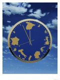 Close-up of a Clock with a Map of Europe as the Dial Giclee Print