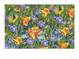 Poppies and Wildflowers Giclee Print by Linda Braucht