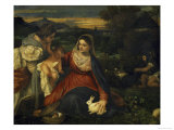 Virgin and Child with Saint Catherine, c.1530 Gicle-tryk af Titian (Tiziano Vecelli)