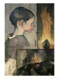 Profile of a Child Giclee Print by Louis Anquetin