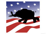 Republican Silhouette Giclee Print by Linda Braucht