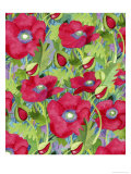 Poppy Splash Giclee Print by Linda Braucht