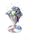 Business Shark in a Glass Giclee Print by Linda Braucht