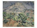 Mount St. Victoirela Giclee Print by Paul Cézanne