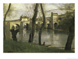 Le Pont de Mantes Giclee Print by Jean-Baptiste-Camille Corot