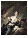 The Duchess of Chaulnes, c.1744 Giclee Print by Jean-Marc Nattier