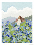 Forget-Me-Not Cottage Giclee Print by Linda Braucht