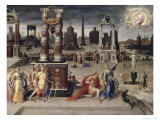Augustus and the Tiburtine Sibyl, 16th century Giclee Print by Antoine Caron