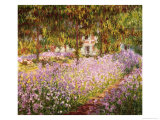 Garden at Giverny Giclee Print by Claude Monet