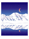 Mountain Moon Giclee Print by Linda Braucht