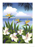 Tropical Beach Giclee Print by Linda Braucht