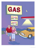 Arm and Leg Gas Prices, no.1 Giclee Print by Linda Braucht