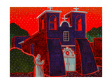 Taos Mission Giclee Print by John Newcomb