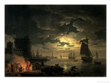 Harbor of Palermo, c.1750 Giclee Print by Claude Joseph Vernet