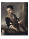 Boy with a Dog, c.1655-1660 Giclee Print by Bartolome Esteban Murillo