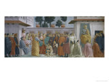 Saint Peter Resurrects the Child of Theophilus Premium Giclee Print by T. & Lippi Masaccio