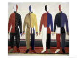 The Sportsmen Gicle-tryk af Kasimir Malevich