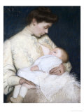 Nursing the Baby Giclee Print by Lilla Cabot Perry
