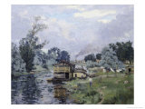 River Landscape Giclee Print by Armand Guillaumin
