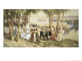 Egyptian Procession Lmina gicle por Frederick Arthur Bridgman