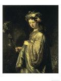 Saskia as Flora Premium Giclee Print by  Rembrandt van Rijn