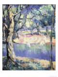 River in the Forest, c.1908 Giclee Print by Kasimir Malevich