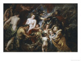 War and Peace Giclee Print by Peter Paul Rubens