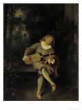 Mezzetin Giclée-tryk af Jean Antoine Watteau