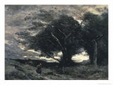 The Wind Giclee Print by Jean-Baptiste-Camille Corot