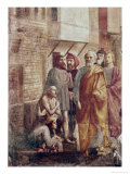 St. Peter Healing the Sick with His Shadow Giclée-tryk af Masaccio