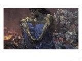 Demon Seated Giclée-Druck von Mikhail Aleksandrovich Vrubel