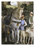 La Camera Degli Sposi: Grooms with Horse and Two Dogs Premium Giclee Print by Andrea Mantegna