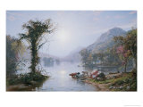 Autumn Lake Giclee Print by Jasper Francis Cropsey