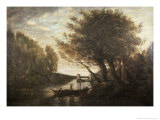 Rowing to Shore Giclee Print by Jean-Baptiste-Camille Corot