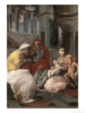 Holy Family with St.Elizabeth and John the Baptist, c.1541 Giclee Print by Francesco Primaticcio