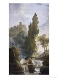 The Antique Temple Reproduction procédé giclée par Hubert Robert