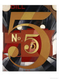 I Saw the Figure 5 in Gold Premium Giclee Print by Charles Demuth